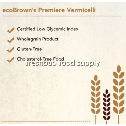 Ecobrown's Vermicelli - Bihun Beras Perang | Premiere Brown Rice Vermicelli 糙米波纹米粉 300g